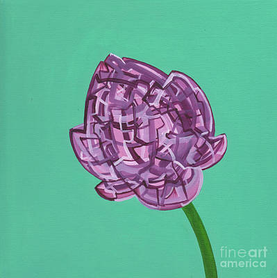 Painting - Violet Meditating Lotus Bud by Nancy Fritz