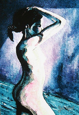 Painting - Violet Nude by John Keaton
