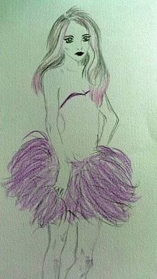 Lilac Drawing - Violet by Nyasu Line