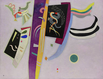 Disk Painting - Violet-orange by Wassily Kandinsky