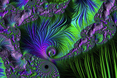 Digital Art - Violet Paradise Abstract by Georgiana Romanovna