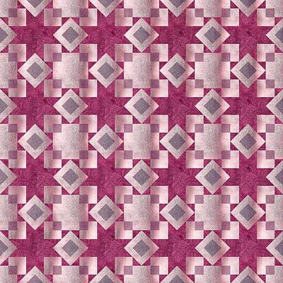 Block Quilts Digital Art - Violet Quilt by Oksana Ariskina