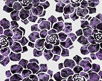 Mixed Media - Violet Rose Pattern by Patricia Strand