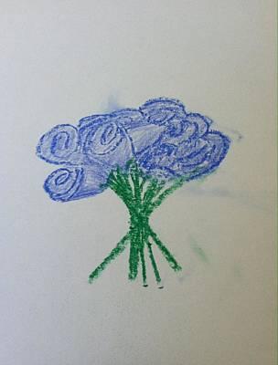 Drawing - Violet Roses  by Alohi Fujimoto