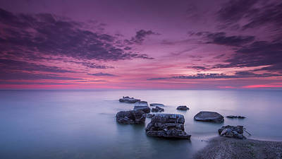 Wind Photograph - Violet Skies by Josh Eral