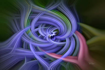 Digital Art - Violet Splash by Bill Posner