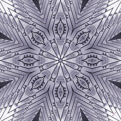 Violet Steel 2367k8 Art Print by Brian Gryphon