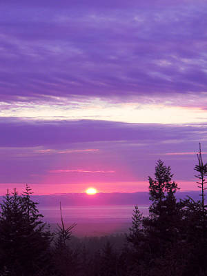 Photograph - Violet Sunset IIi by Pacific Northwest Imagery