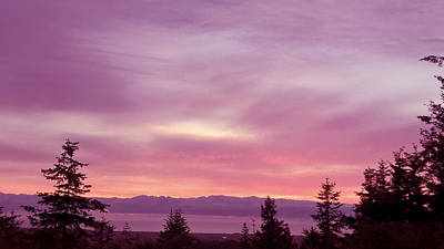 Photograph - Violet Sunset Iv by Pacific Northwest Imagery