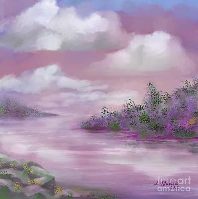 Painting - Violet Sunset by Judy Filarecki