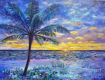 Painting - Violet Sunset  by Lou Ann Bagnall