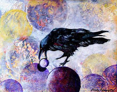 Violet-velvet Lining Art Print by Sandy Applegate