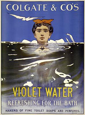 Digital Art - Violet Water From Colgate by Phat Artz