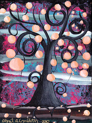 Violeta Tree Art Print by  Abril Andrade Griffith