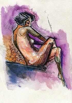 Violetly Demure Print by Rob Tokarz