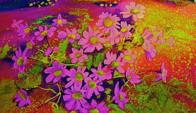 Painting - Violets Among The Heather by Carole Spandau