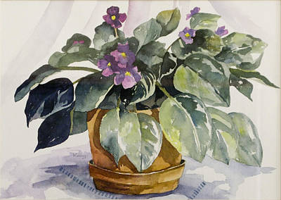 Painting - Violets by Jerry Kelley
