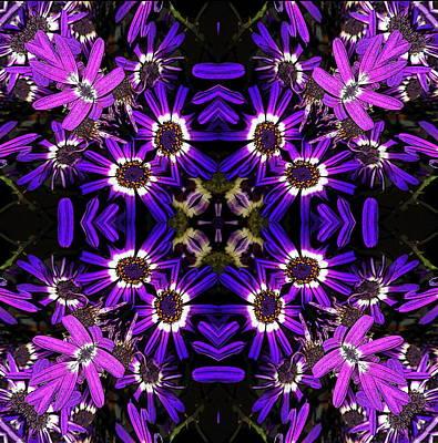Mixed Media - Violets by Jesus Nicolas Castanon