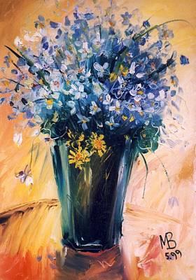 Painting - Violets by Mikhail Zarovny