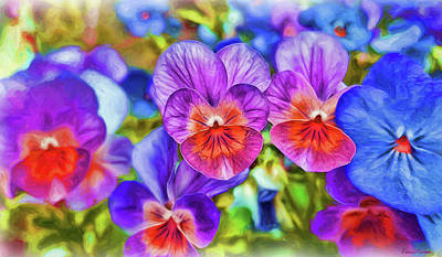 Painting - Violets - Painting by Ericamaxine Price