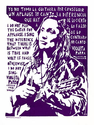 Applause Mixed Media - Violetta Parra by Ricardo Levins Morales