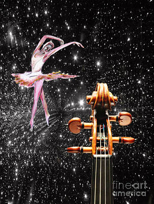 Painting - Violin And Ballet Dancer Number 1 by Tom Conway