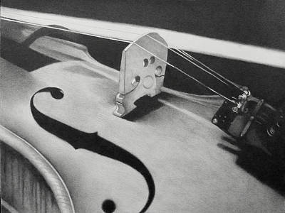 Drawing - The  Violin by Becky West