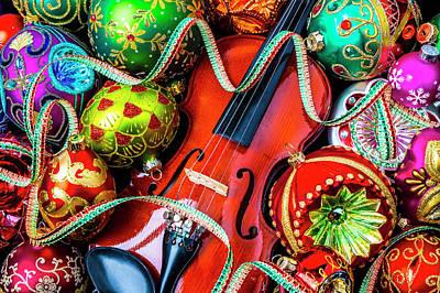 Photograph - Violin Christmas Celebration by Garry Gay