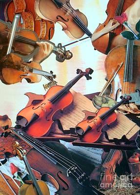 Violin Concierto Art Print by Judith Espinoza