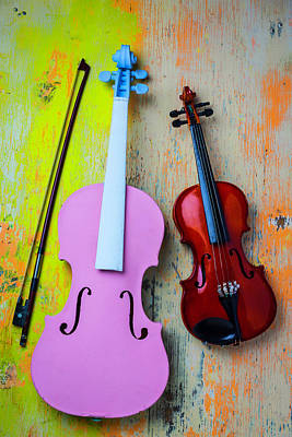 Blue Violin Photograph - Violin Couple by Garry Gay