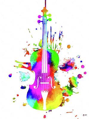Mixed Media - Violin by Daniel Janda