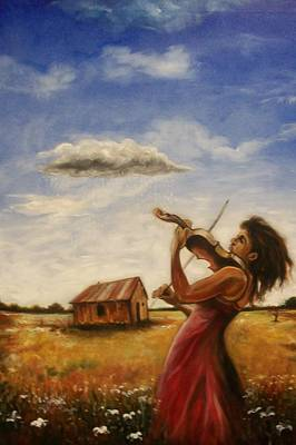 Art Print featuring the painting Violin by Emery Franklin