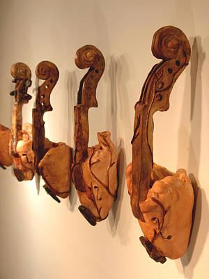 Violin Hearts Art Print by Karissa Bishop