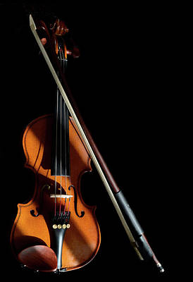 Photograph - Violin In Light And Shadows by Perry Correll