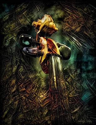 Steampunk Mixed Media - Violin by Lilia D