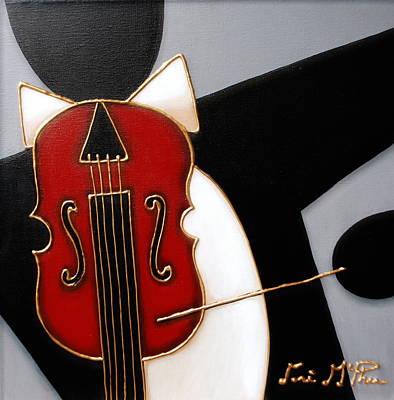 All That Jazz Painting - Violin by Lori McPhee