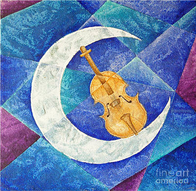 Violin-moon Art Print by Son Of the Moon