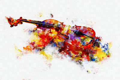 Painting - Violin by Olga Hamilton