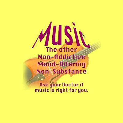 Violin Or Viola Music Is Right For You 5499.02 Art Print by M K  Miller