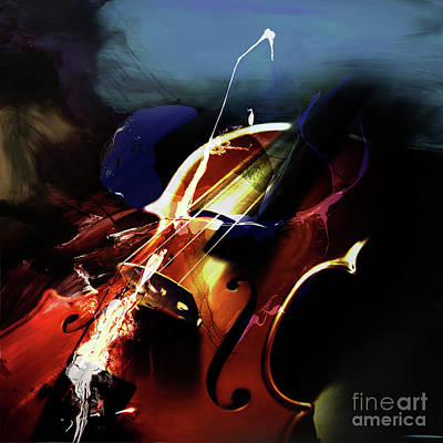 Violin Painting Art 321 Original by Gull G