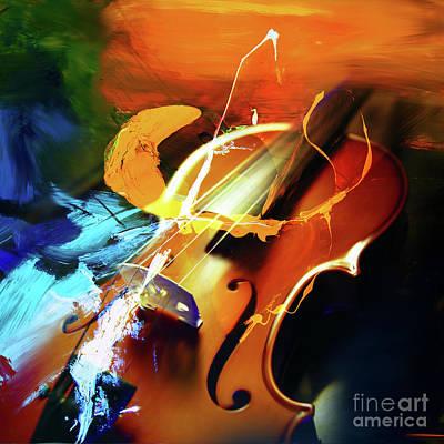 Violin Painting Art 51 Original by Gull G