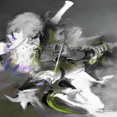 Abstract Drum Painting - Violin Player 88u by Gull G