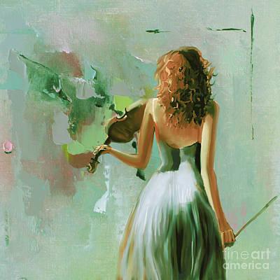 Violin Player Art 56rr Original