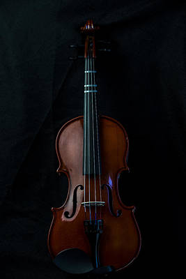 Music Royalty-Free and Rights-Managed Images - Violin Portrait Music 1 by David Haskett II