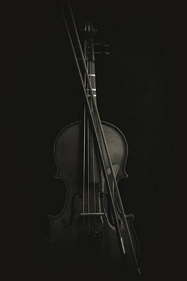 Music Royalty-Free and Rights-Managed Images - Violin Portrait Music 14 by David Haskett II