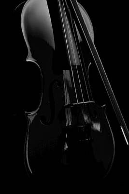 Photograph - Violin Portrait Music 17 Black White by David Haskett II