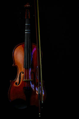 Photograph - Violin Portrait Music 22 by David Haskett