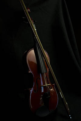 Photograph - Violin Portrait Music 30 by David Haskett