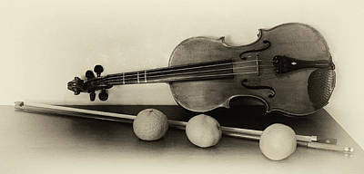 Photograph - Violin Prop by Art Cole