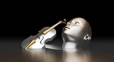 Violin Digital Art - Violin Sculpted Human by Cco